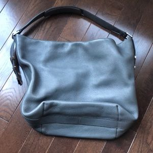 Beautiful gray leather purse